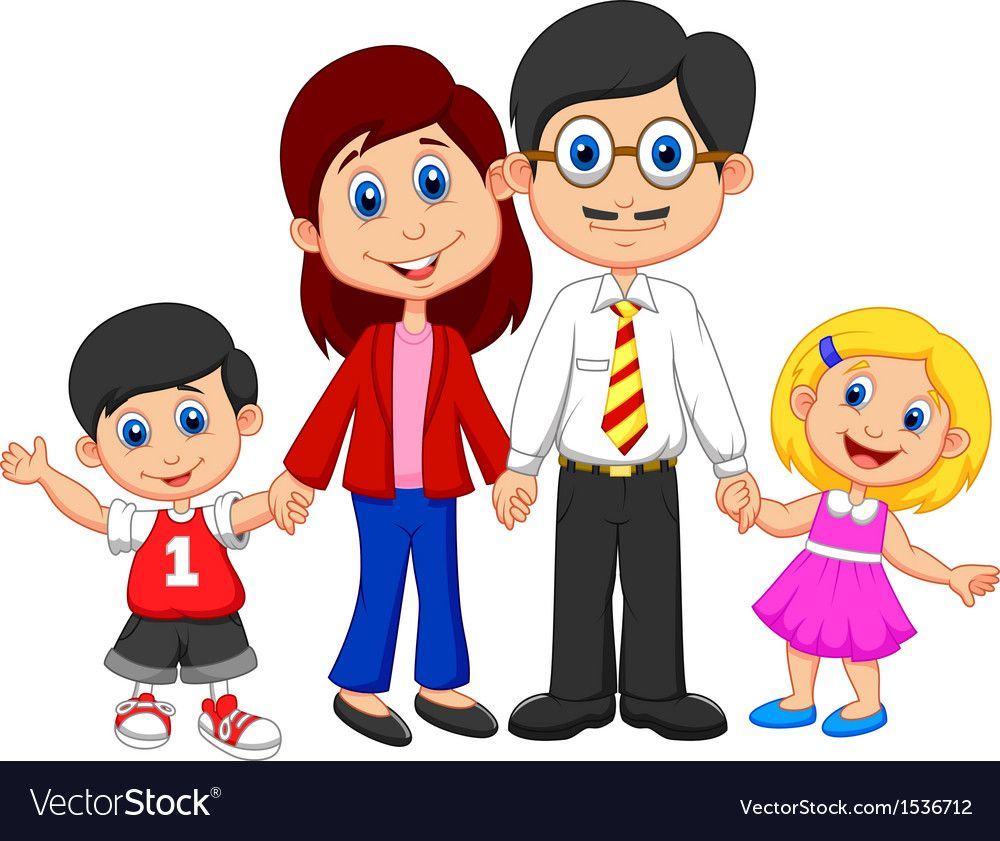 Nuclear family clipart png black and white Pin by latifah alosail on Download   Nuclear family, Family ... png black and white