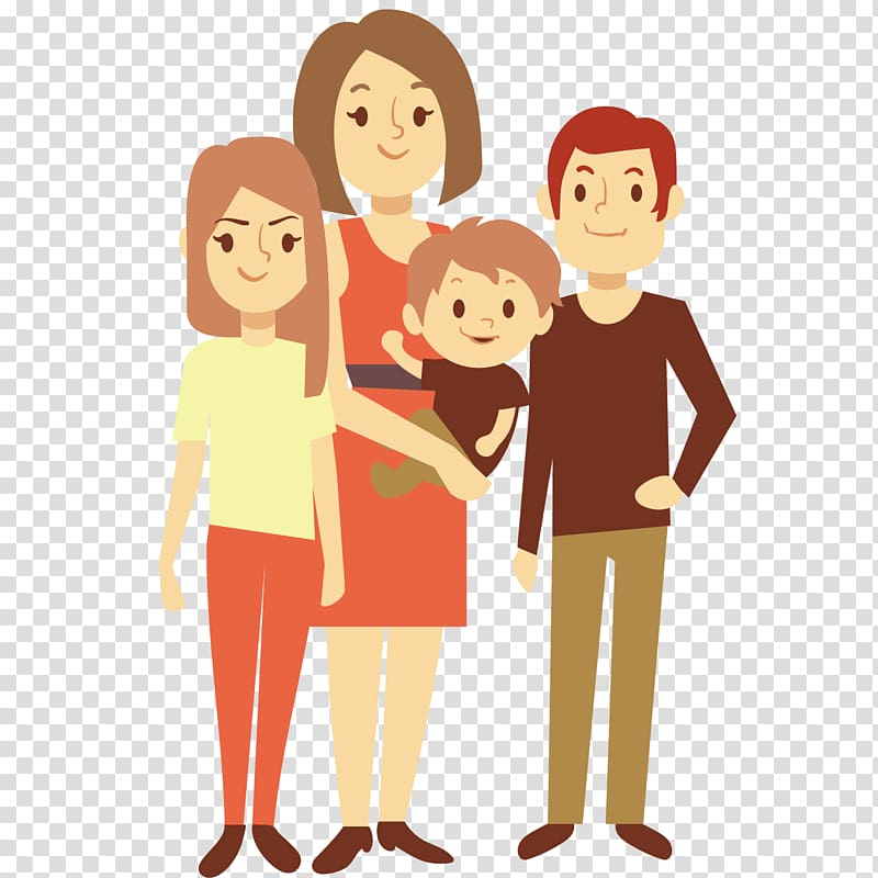 Nuclear family clipart clipart black and white Family , Nuclear family Euclidean Child Illustration ... clipart black and white