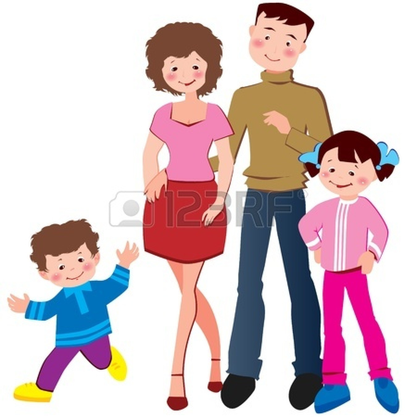 Nuclear family clipart freeuse stock Nuclear family clipart black and white 2 » Clipart Station freeuse stock