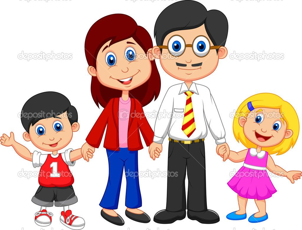 Nuclear family clipart black and white two girls picture black and white library Familia | مشروع العائلة | Nuclear family, Family drawing ... picture black and white library