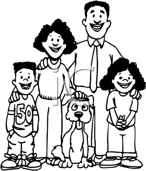 Nuclear family clipart black and white two girls clipart royalty free download Nuclear family clipart black and white 1 » Clipart Station clipart royalty free download