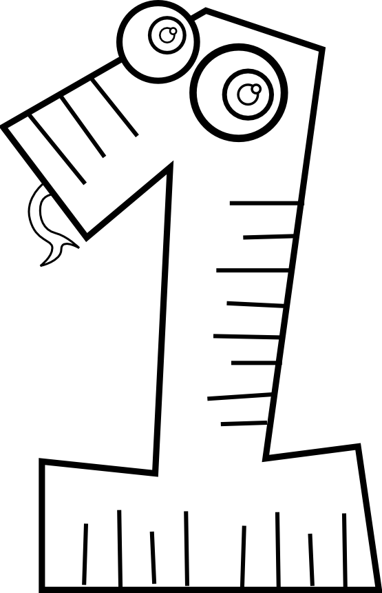 White number 1 clipart png black and white download clipartist.net » Clip Art » kablam number animals 1 black white line ... png black and white download