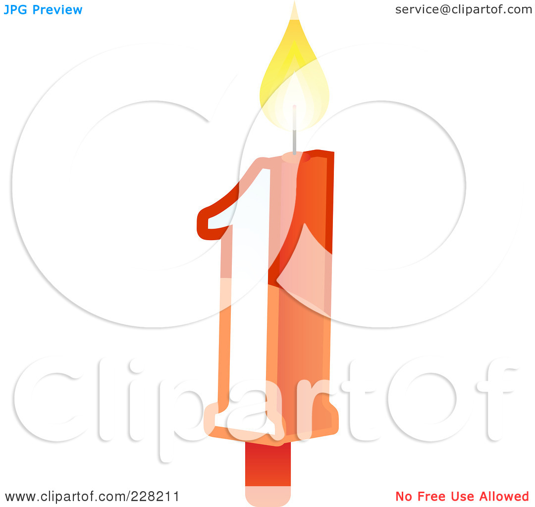 Number 1 candle clipart banner royalty free Royalty-Free (RF) Clipart Illustration of a Number 1 Birthday Cake ... banner royalty free