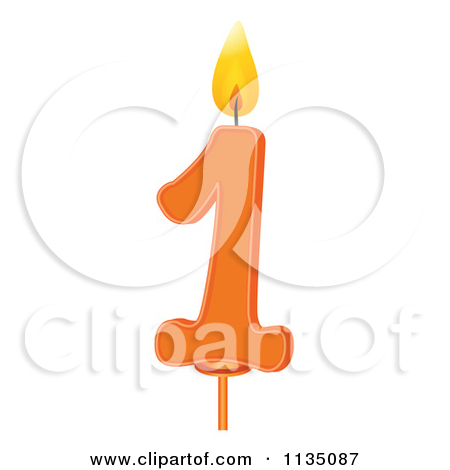 Number 1 candle clipart vector stock 1 birthday candle clipart - ClipartFest vector stock