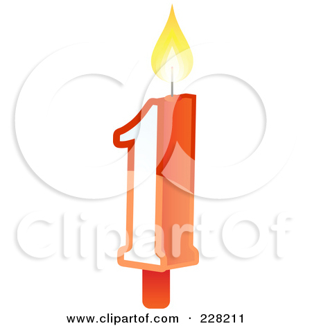 Number 1 candle clipart vector library Royalty-Free (RF) Clipart Illustration of a Number 1 Birthday Cake ... vector library
