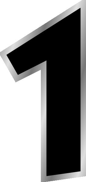 Number 1 clipart black png library download Number 1 Black Clip Art at Clker.com - vector clip art ... png library download