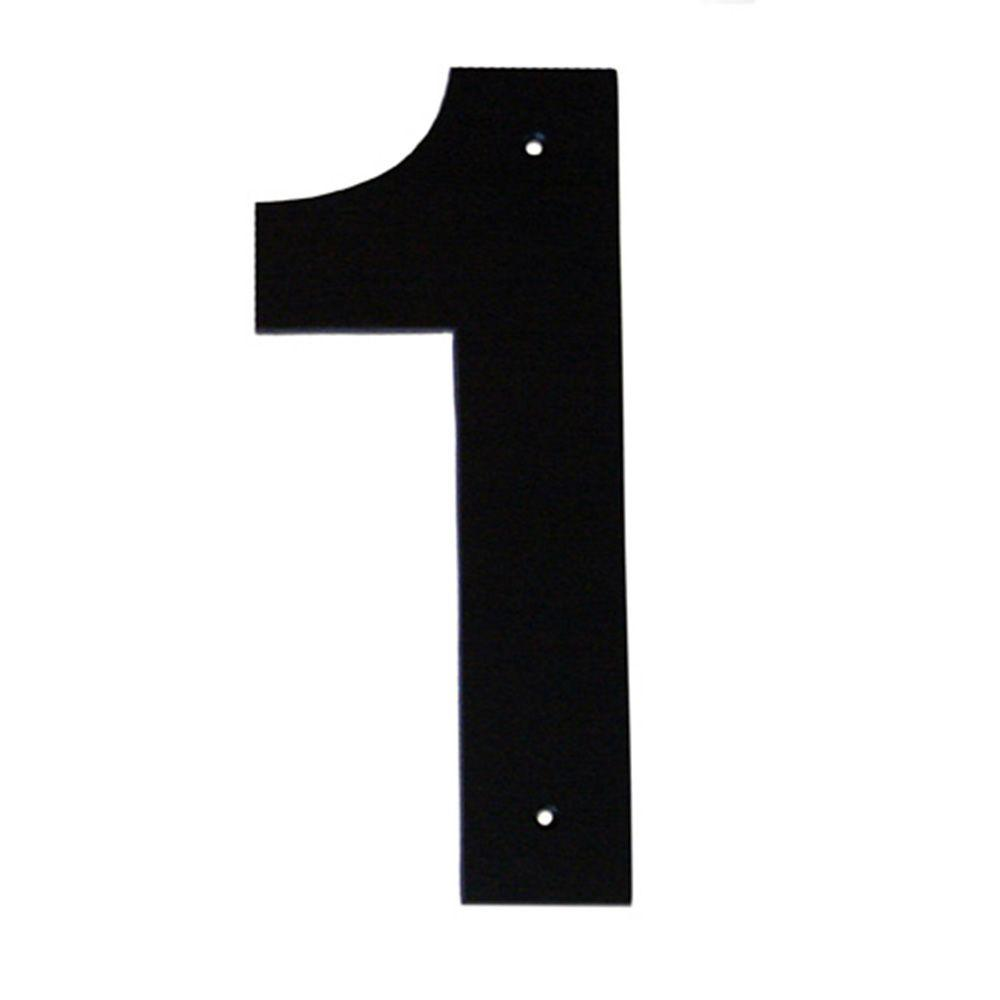 Number 1 clipart black black and white library Montague Metal Products 6 in. Helvetica House Number 1 black and white library