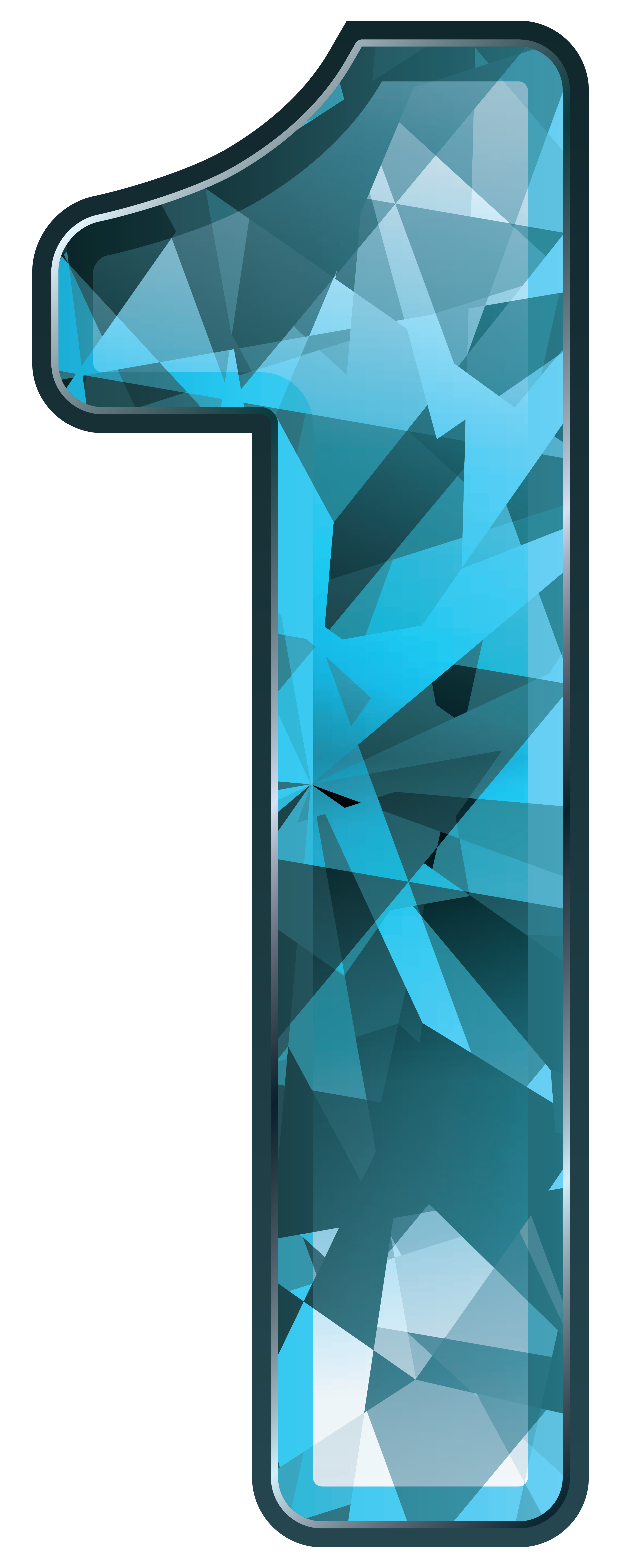 Number 1 clipart free picture free Blue Crystal Number One PNG Clipart Image | Gallery Yopriceville ... picture free
