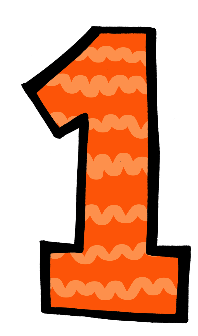 Number one orange clipartfox. Clipart 1