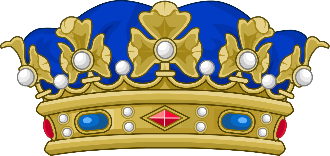 Number 1 clipart with crown graphic freeuse download File:Crown of a Duke of France.svg - Wikipedia graphic freeuse download