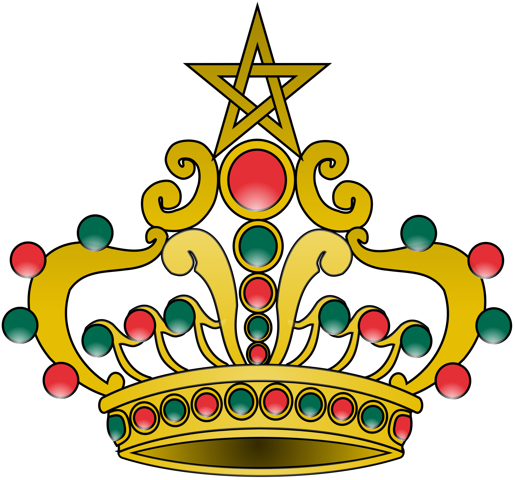 Number 1 clipart with crown freeuse download File:Crown of Morocco 1.svg - Wikimedia Commons freeuse download