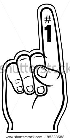 Number 1 finger clipart transparent download Foam finger #1 clipart - ClipartFest transparent download
