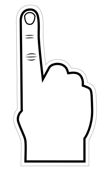 Number 1 finger clipart clip art library Number 1 Finger Clipart - Clipart Kid clip art library