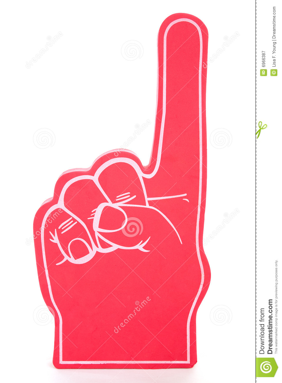 Number 1 finger clipart clipart black and white download Foam Finger Clipart - Clipart Kid clipart black and white download