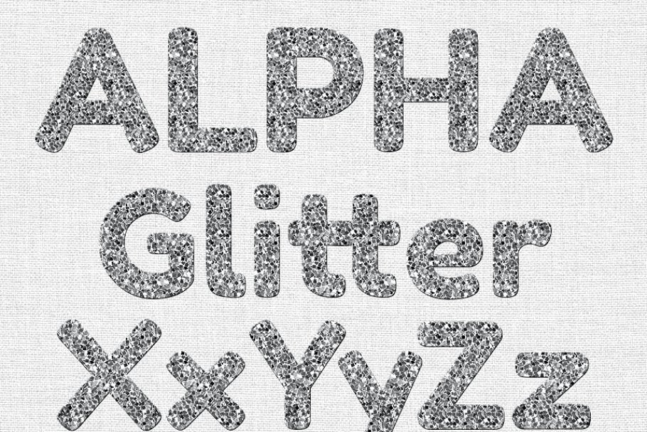 Number 1 glitter silver clipart svg freeuse download SILVER GLITTER ALPHABET CLIP ART svg freeuse download