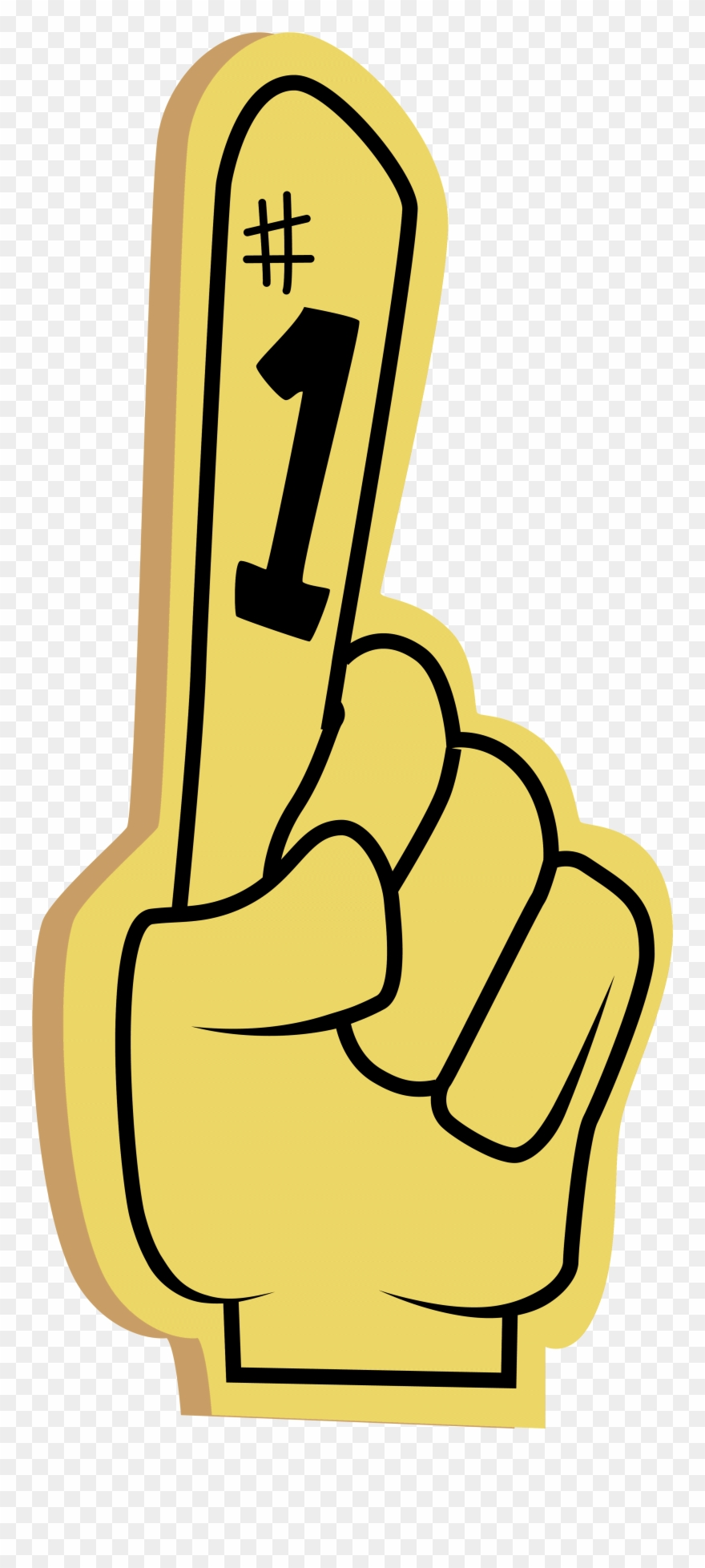 Number 1 hand clipart picture library library Number One Hand Clipart - Clip Art Foam Finger - Png ... picture library library