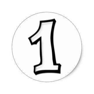 Number 1 white clipart freeuse download 1 Birthday Stickers | Zazzle freeuse download