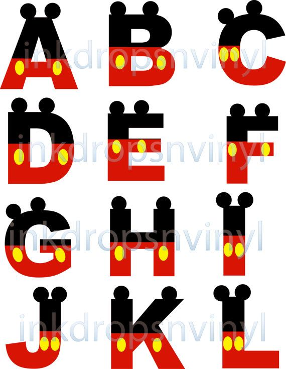 Number 1 wooden letter clipart clip art transparent download Mickey Mouse Hand Painted Wooden Letter by CrafteeThings on Etsy ... clip art transparent download