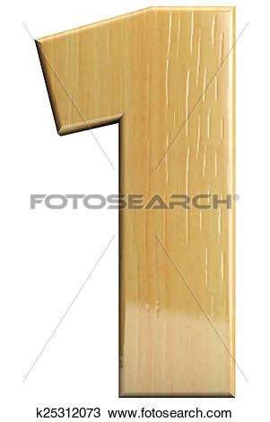 Number 1 wooden letter clipart vector Stock Photo of Wooden letter 1 k25312073 - Search Stock Images ... vector