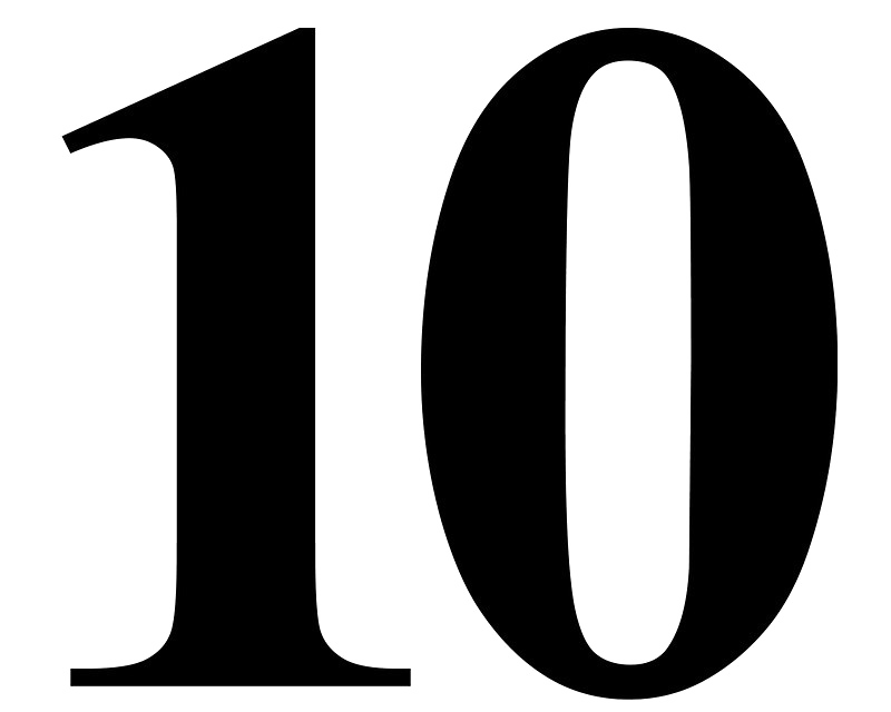 Number 10 clipart black and white clip library download Number 10 image clipart images gallery for free download ... clip library download
