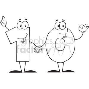 Number 10 clipart black and white clip art black and white download 12837 RF Clipart Illustration Number Ten Cartoon Character clipart.  Royalty-free clipart # 385093 clip art black and white download