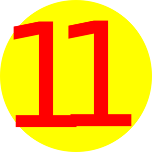 Number 11 clipart image library download Number 11 clip art | Clipart Panda - Free Clipart Images image library download