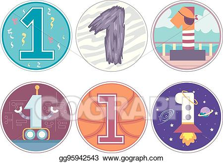 Number 2 birthday clipart for a boy graphic free stock Vector Illustration - Number 1 design pattern 2 birthday boy ... graphic free stock