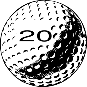 Number 20 clipart svg black and white Golf Ball Number 20 Clip Art at Clker.com - vector clip art online ... svg black and white