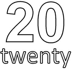 Number 20 clipart image freeuse library Clipart black and white number 20 - ClipartFest image freeuse library