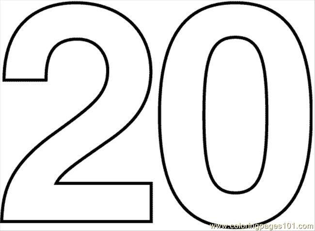 Number 20 clipart image free Clipart black and white number 20 - ClipartFest image free