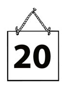 Number 20 clipart image free stock Clipart black and white number 20 - ClipartFest image free stock
