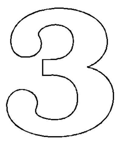 Number 3 clipart black and white svg black and white library Free Number 3, Download Free Clip Art, Free Clip Art on ... svg black and white library