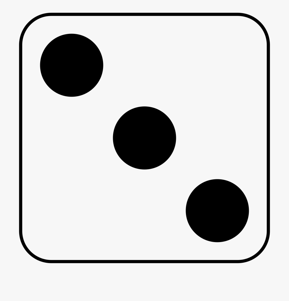 Number 3 clipart black and white svg transparent download Number 3 Dice Clipart Black And White - Dice Clip Art Black ... svg transparent download