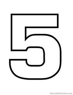 Number 5 clipart black and white jpg royalty free Number 5 Clipart Black And White (96+ images in Collection ... jpg royalty free