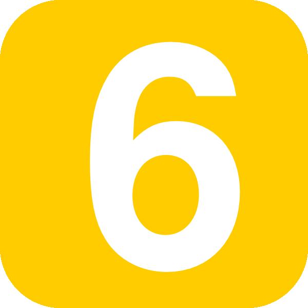 Number 6 clipart svg freeuse Number 6, Square, Orange Clip Art at Clker.com - vector clip art ... svg freeuse