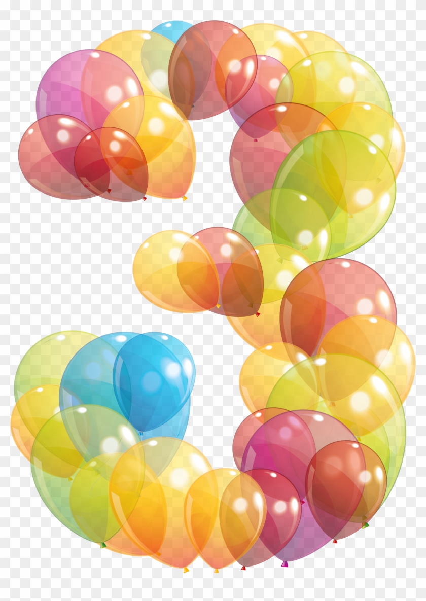 Number balloons clipart clip art royalty free Transparent Three Number Of Balloons Png Clipart Image ... clip art royalty free