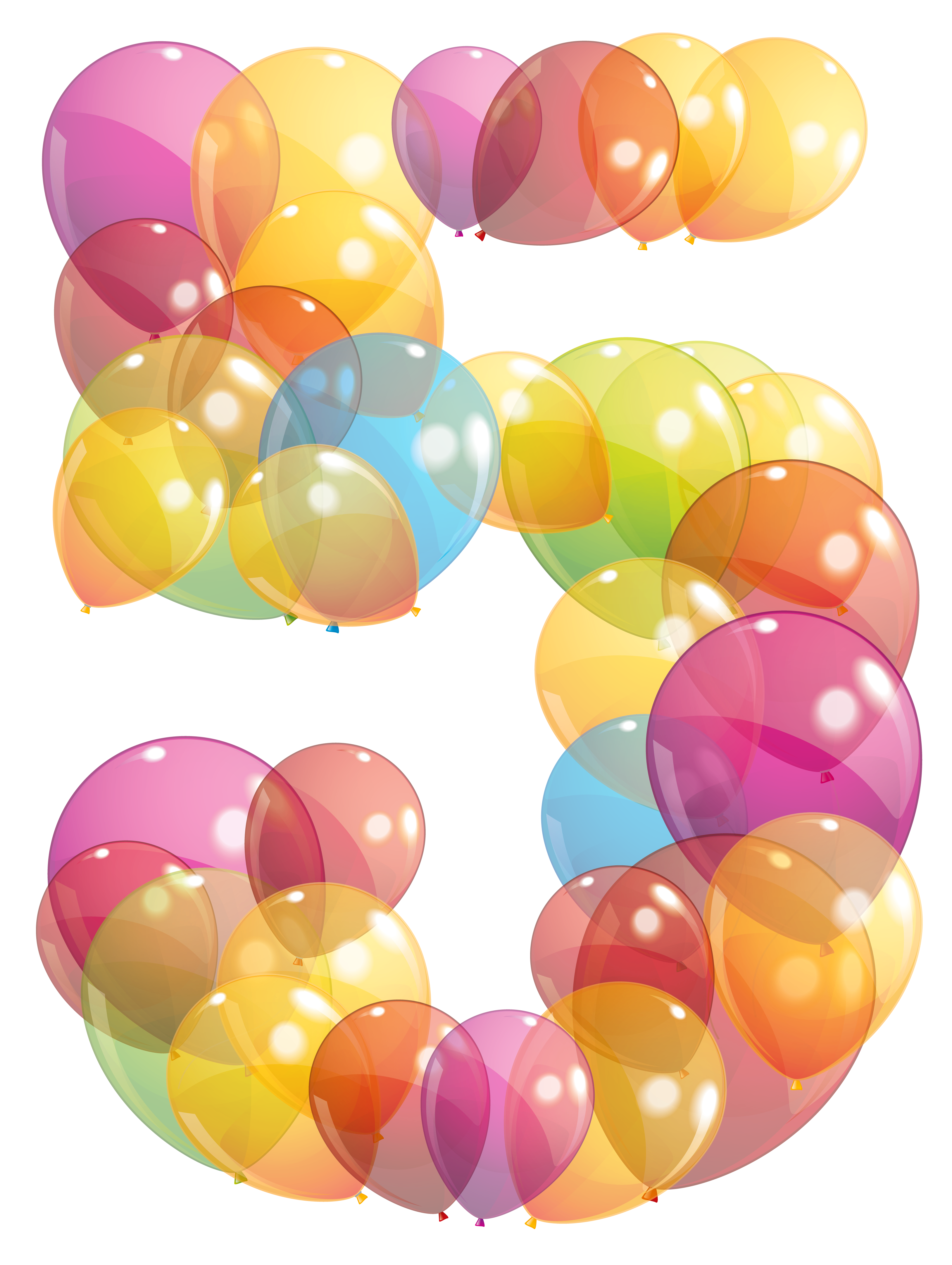 Number balloons clipart picture library download Transparent Five Number of Balloons PNG Clipart Image ... picture library download
