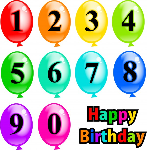 Number balloons clipart free stock Birthday Balloons Clipart Free Stock Photo - Public Domain ... free stock