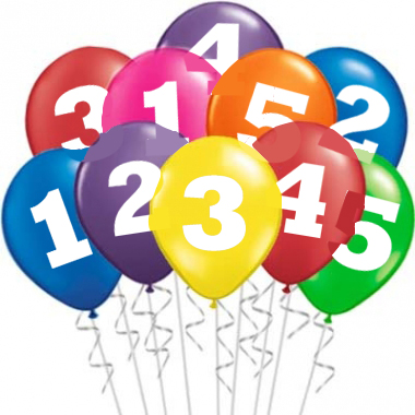 Number balloons clipart picture free download Online Birthday Party Supplies Stores In Singapore picture free download