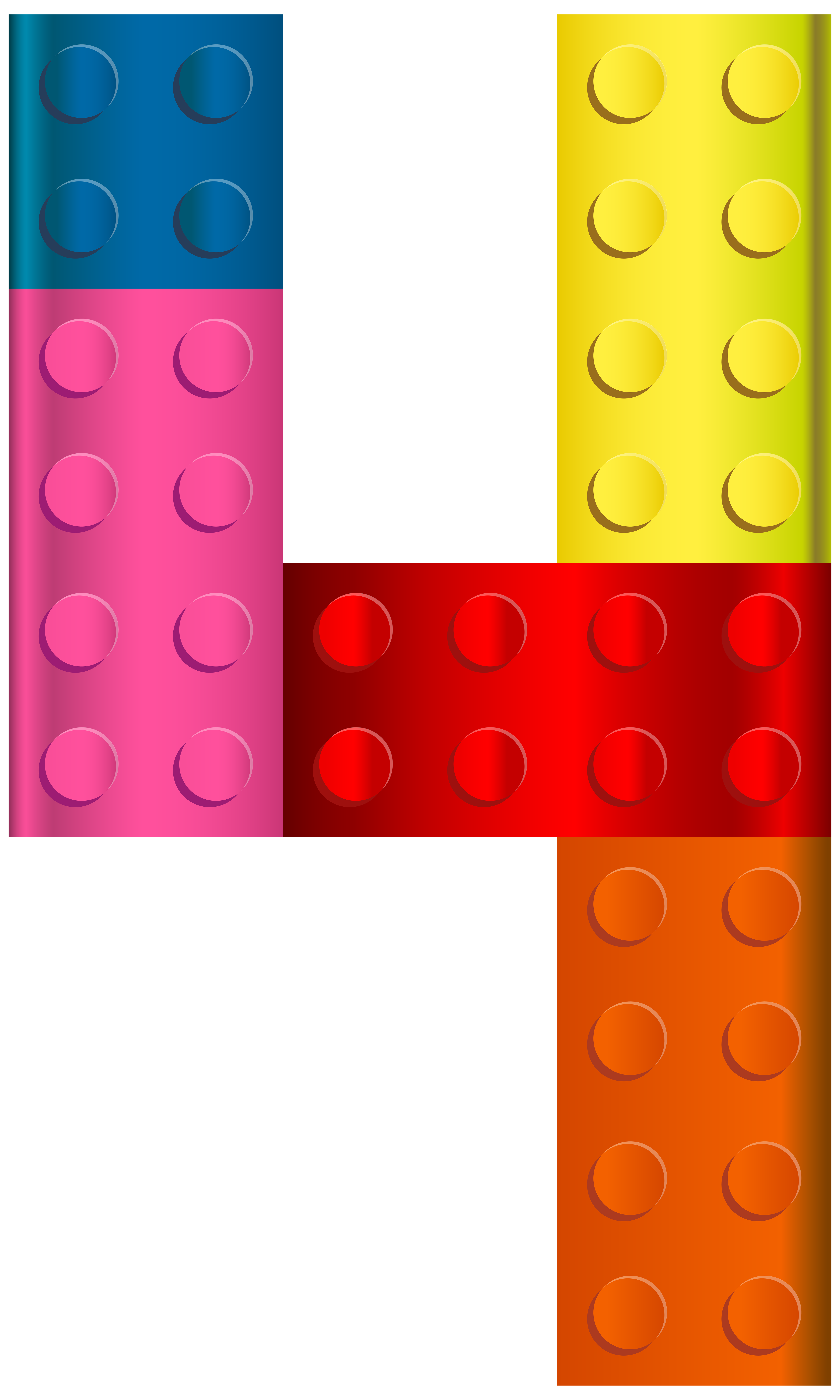 Number block clipart free download Lego Number Four PNG Transparent Clip Art Image   Gallery ... free download
