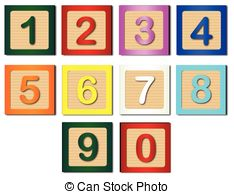Number block clipart picture royalty free download Clipart Vector of Vector wooden number blocks - Wooden number ... picture royalty free download