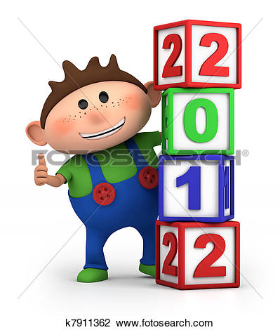 Number block clipart picture freeuse stock Clip Art of boy with 2012 number blocks k7911362 - Search Clipart ... picture freeuse stock