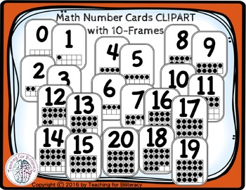 Number cards clipart image royalty free library Math Number Cards 0-20 FREE CLIPART image royalty free library