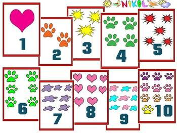 Number cards clipart svg library library Flashcards - numbers and pictures - Clipart 40 individual ... svg library library
