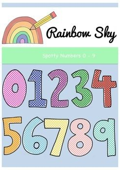 Number cards clipart png transparent download Spotty Numbers 0 - 9 Clipart. Free Download | preschool ... png transparent download
