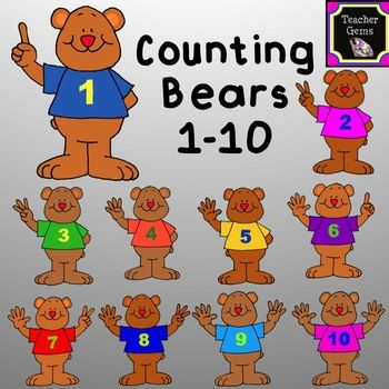 Number clipart 1 10