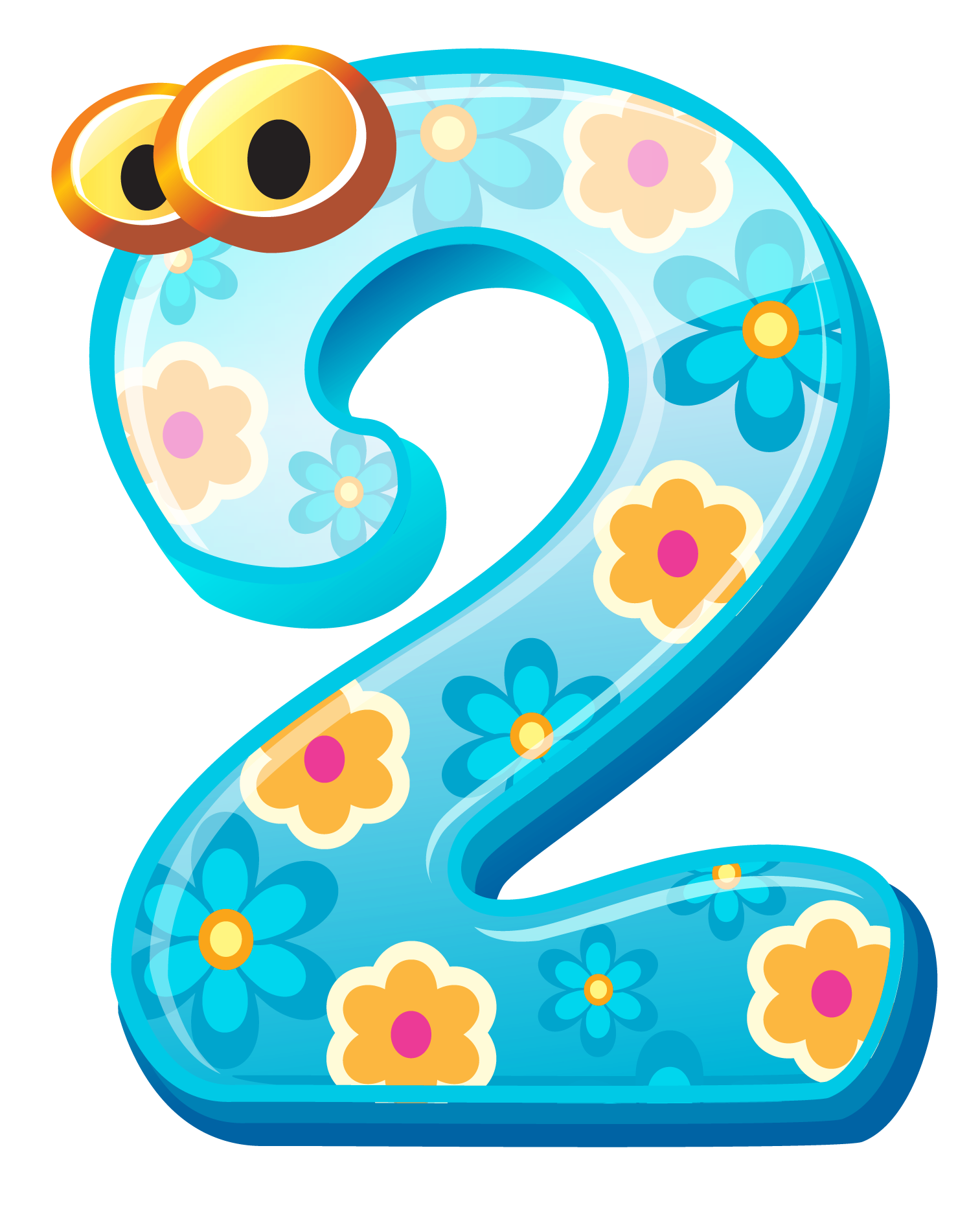 Clipart numbers free Cute Number Two PNG Clipart Image free