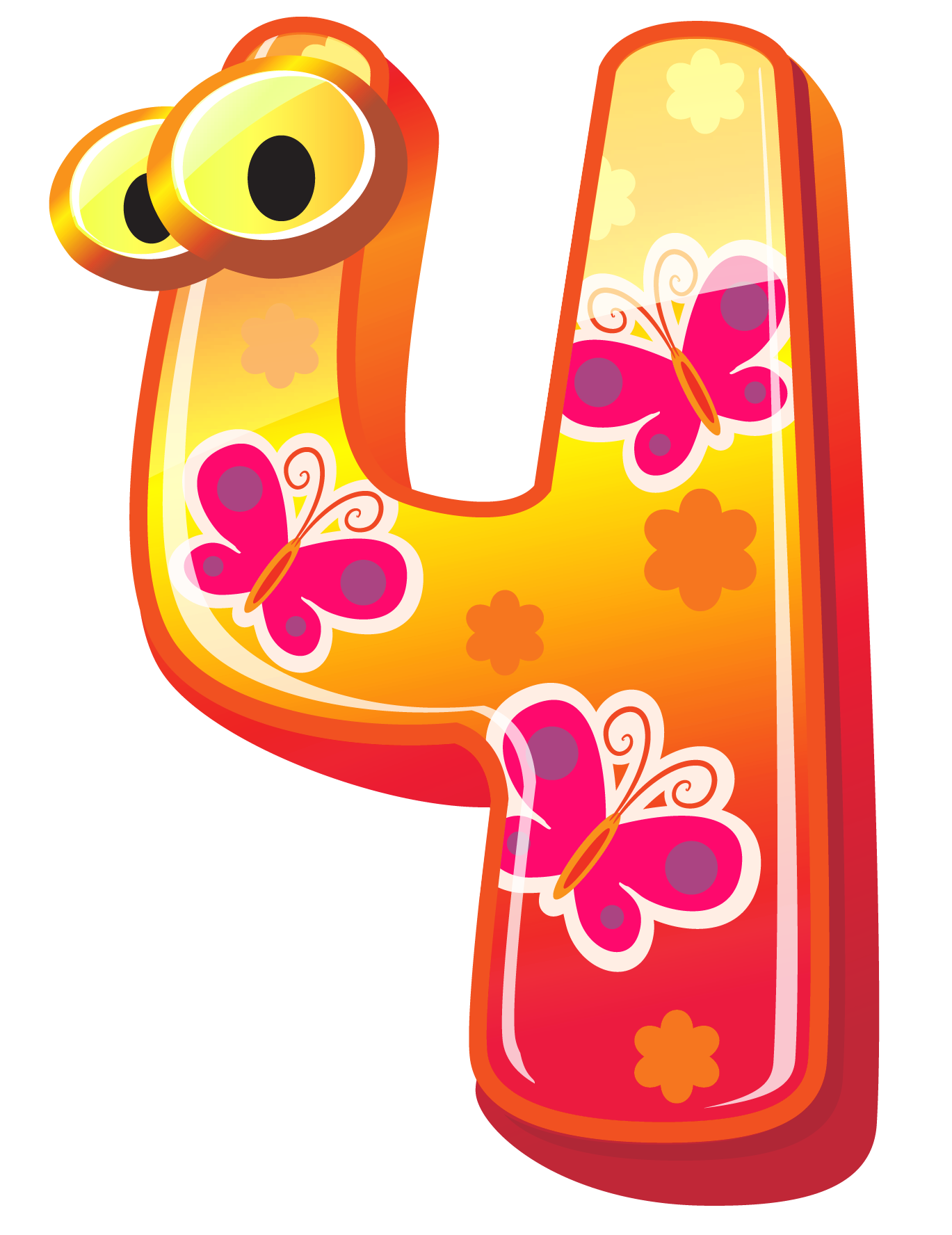 Numbers clipart clipart Cute Number Four PNG Clipart Image clipart