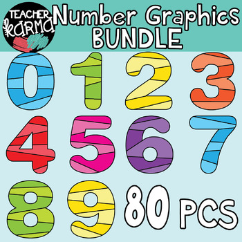 Number graphics clipart clip art freeuse stock Number Clipart, Math Graphics clip art freeuse stock