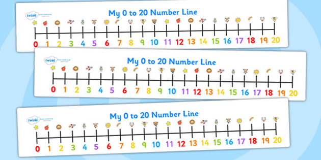 Number line 1 20 clipart picture stock Free Worksheets : blank number lines printable Blank Number Lines ... picture stock
